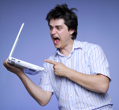 Frustrated man image